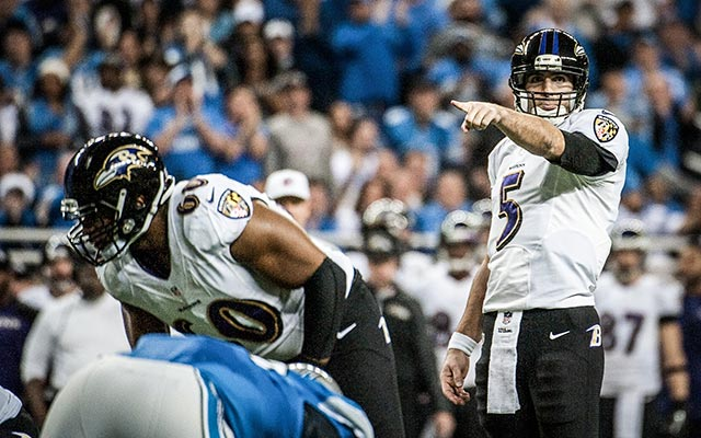 Can Joe Flacco rebound after a so-so 2013 season? (USATSI)
