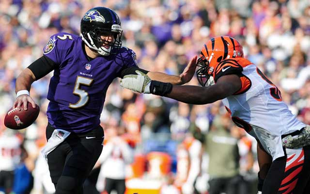 Joe Flacco was 20-36 for 140 yards Sunday vs. the Bengals. (USATSI)