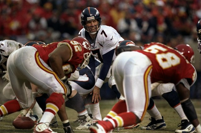 John Elway was 17-12 in his career against Kansas City. (Getty Images)