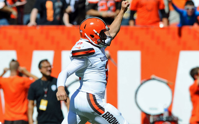 Johnny Manziel is on fire early Sunday.