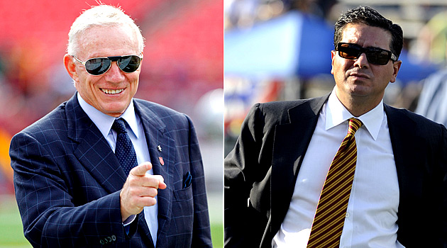 Jerry Jones doesn't expect other owners to pressure Daniel Snyder. (USATSI)