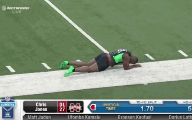 Chris Jones Has Interesting, NSFW Moment at NFL Combine