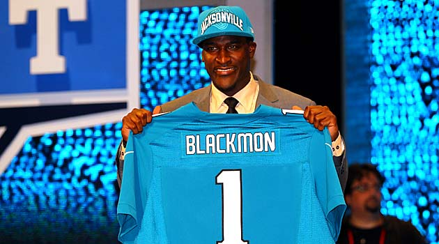 Justin Blackmon was the first wide receiver drafted in 2012. (USATSI)