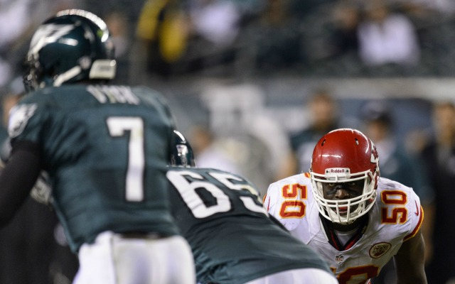 Chiefs LB Justin Houston has 11 sacks through eight games.  (USATSI)