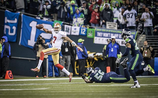 Colin Kaepernick remains unimpressed with Richard Sherman. (USATSI)