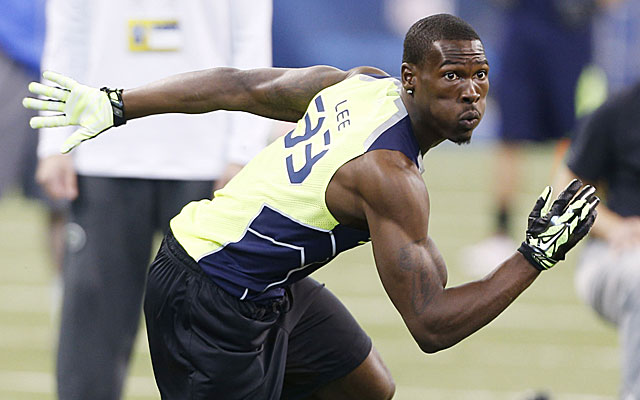 USC's Marqise Lee records a 127.0 in the broad jump. (USATSI)