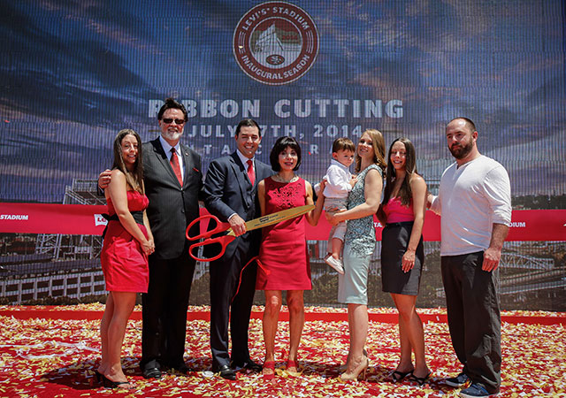 The 49ers had the official ribbon-cutting ceremony for Levi Stadium on Thursday. (USATSI)