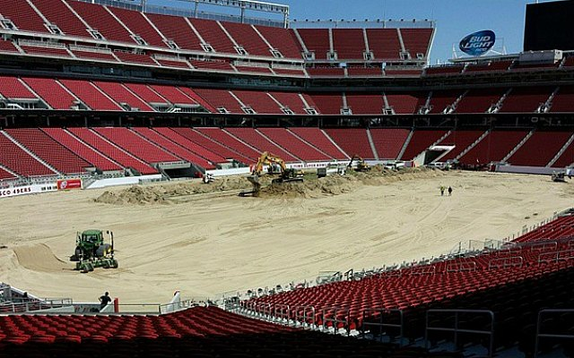 This apparently was snapped at Levi's Stadium on Monday afternoon. (@hundreddollarman)
