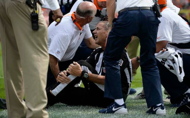 Report: Ravens-Broncos game official suffers 9 broken ribs, collapsed lung