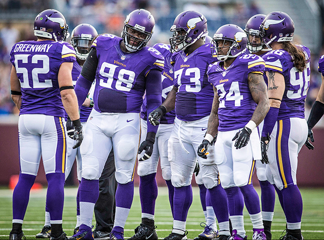 Linval Joseph (98) played nine snaps in the preseason opener Friday. (USATSI)