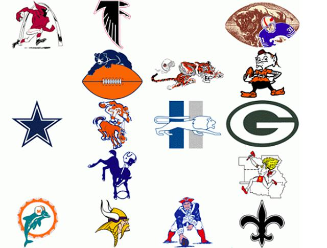 look history of nfl told through team logos is mesmerizing
