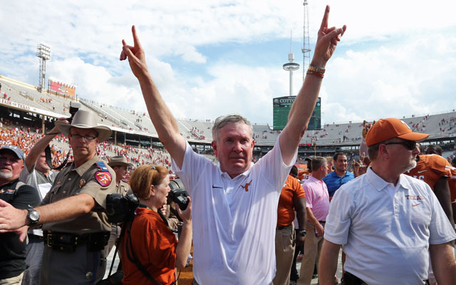 Mack Brown is still working for Texas ... outside the United States. (USATSI)