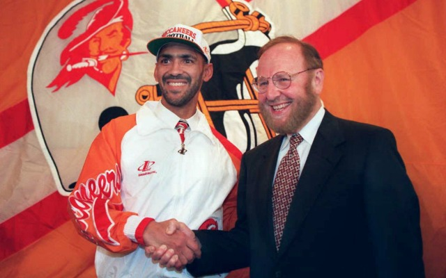 Malcolm Glazer was innovative by hiring African-American head coaches, like Tony Dungy. (Getty Images)