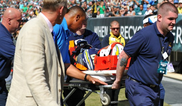 Malcom Floyd was carted off Sunday with a neck injury. (USATSI)