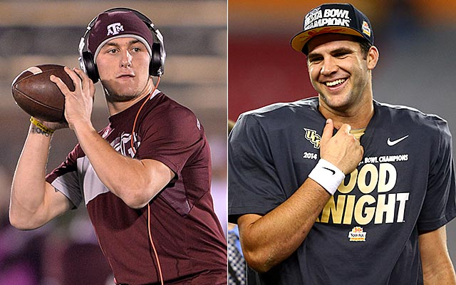 Will Johnny Manziel or Blake Bortles end up in Houston? (USATSI)