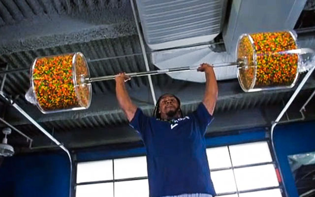Marshawn Lynch's workout is as unconventional as it is tasty. (USATSI)