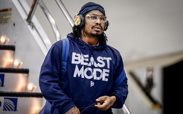 Marshawn Lynch doesn't like talking to the media and his teammates are OK with that. (USATSI)