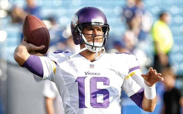 Matt Cassel will be under center in the Vikings' season opener. (USATSI)