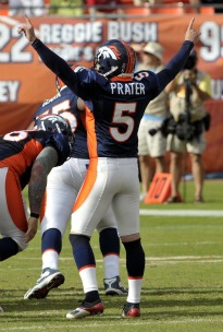 M. Prater has won four games since T. Tebow took over (US Presswire).