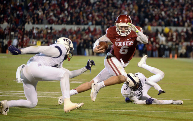 Baker Mayfield has not forgotten about being slighted by TCU. (USATSI)
