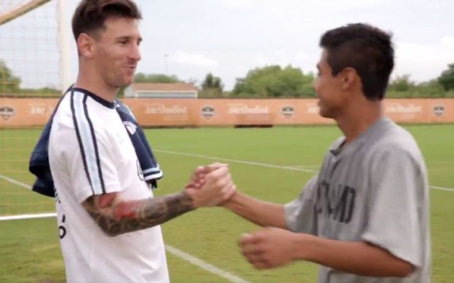 af1255bc572f02 WATCH: Dynamo youth players left in awe after meeting Lionel Messi -  CBSSports.com