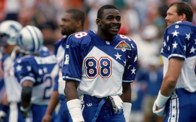 Here's Michael Irvin playing in the Pro Bowl in 1995. In 2015, he'll be captain. (Getty Images)