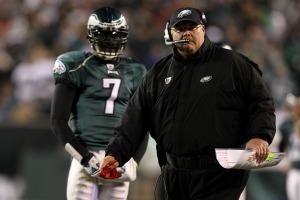 M. Vick said Andy Reid should not be blamed for Philadelphia's poor start (Getty).