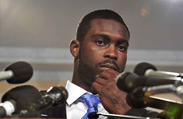 M. Vick lobbied in Capital Hill to help curtail dog fighting (Getty).