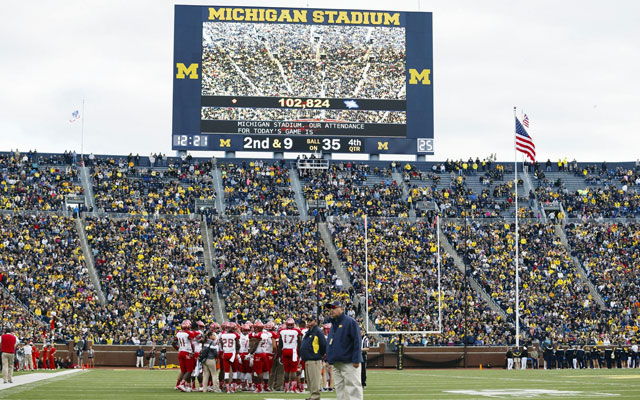 The clock on Michigan's scoreboard could run after first downs in the future. (USATSI)