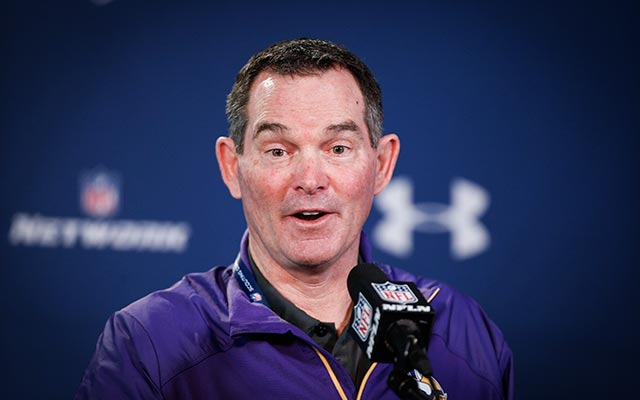 Vikings coach Mike Zimmer would like to find a quarterback via free agency. (USATSI)