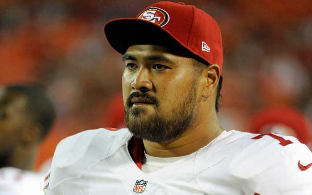 Mike Iupati was a first-round pick from Idaho in 2010 by the Niners. (USATSI)