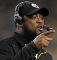 M. Tomlin wasn't pleased a potential trick play was released before Pittsburgh faced Baltimore (US Presswire).