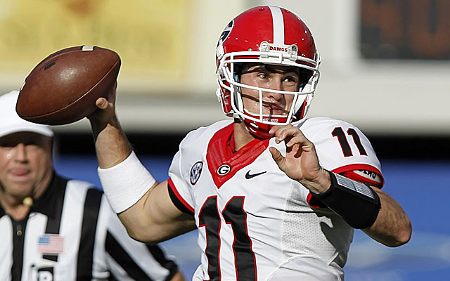 Could the Bengals take former Georgia QB Aaron Murray in Round 2 to compete with Andy Dalton? (USATSI)