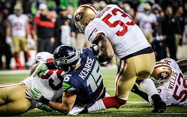 NaVorro Bowman suffered a devastating knee injury in the NFC Championship Game. (USATSI)