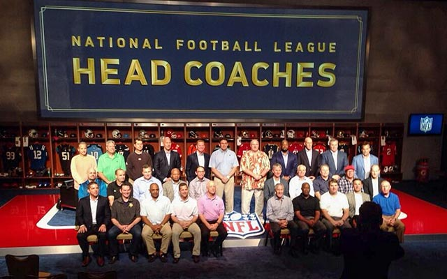 Thirty-one NFL coaches took part in the group photo. One did not. (Twitter)