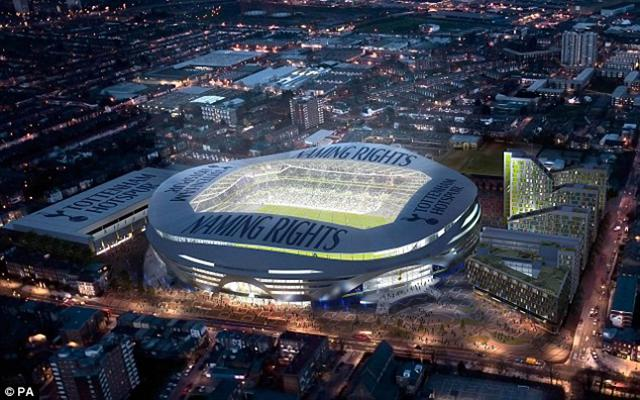 Tottenham's new stadium will hold 61,000. (Daily Mail)