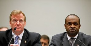 Roger Goodell and DeMaurice Smith (Getty)