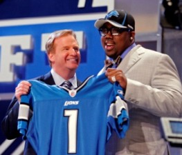 N. Fairley didn't get a playbook from his employer while Detroit had the chance (US Presswire).