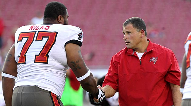 Carl Nicks is dealing with a reoccurrence of MRSA and is one of three Tampa Bay players to deal with it. (USATSI)