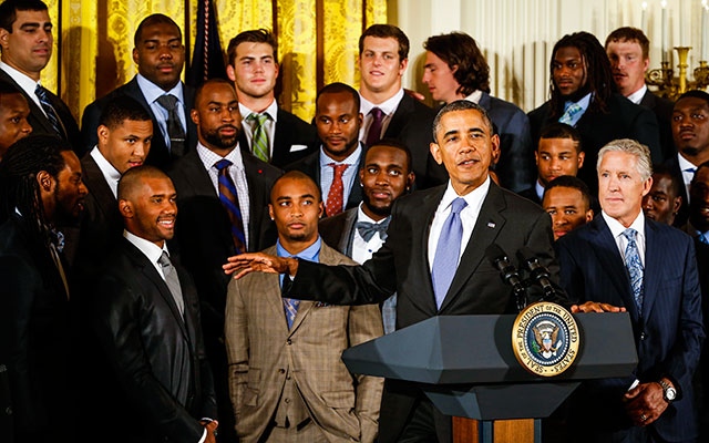 Marshawn's Lynch absence at the White House didn't go unnoticed. (USATSI)