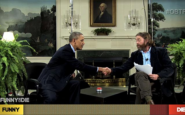 President Obama and Zach Galifianakis talk about football safety. (FunnyorDie.com)