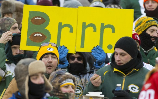 The Green Bay-San Francisco game last week had nothing on the Freezer Bowl. (USATSI)