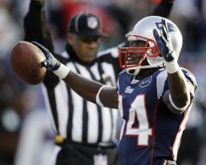 D. Branch scores a TD to help New England to its comeback win against Miami (AP).