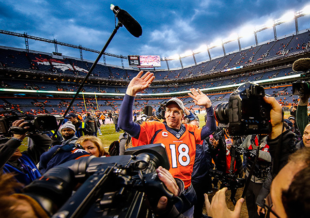 Peyton Manning has the last laugh against Brady and the Pats. (USATSI)