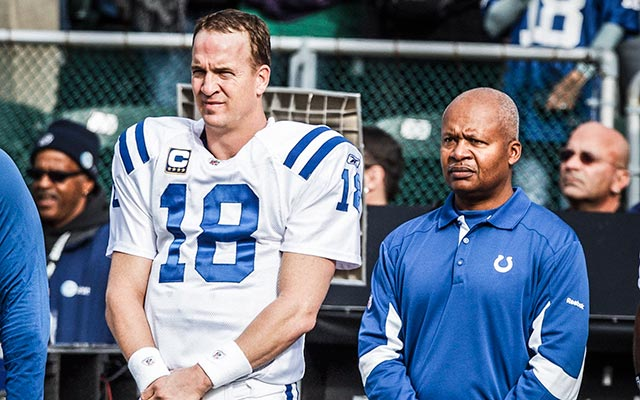 Peyton Manning gave Jim Caldwell a vote of confidence with the Lions. (USATSI)