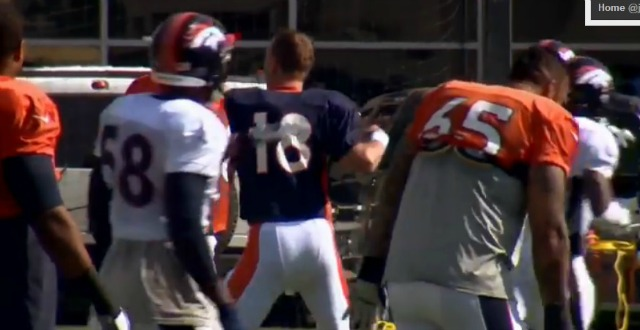 Peyton Manning has some moves. (9News.com)