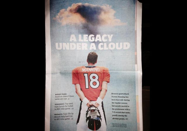 Should we question Peyton Manning's playoff legacy? (Denver Post)