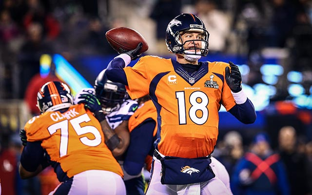 The Broncos and Peyton Manning were demoralized by the Seahawks in the Championship game. (USATSI)