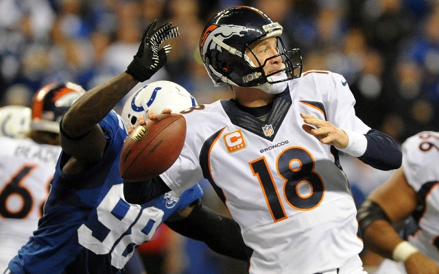 There was speculation that this hit affected Peyton Manning on Sunday. (USATSI)