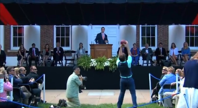 Peyton Manning throws touchdown passes at Virginia. (YouTube)